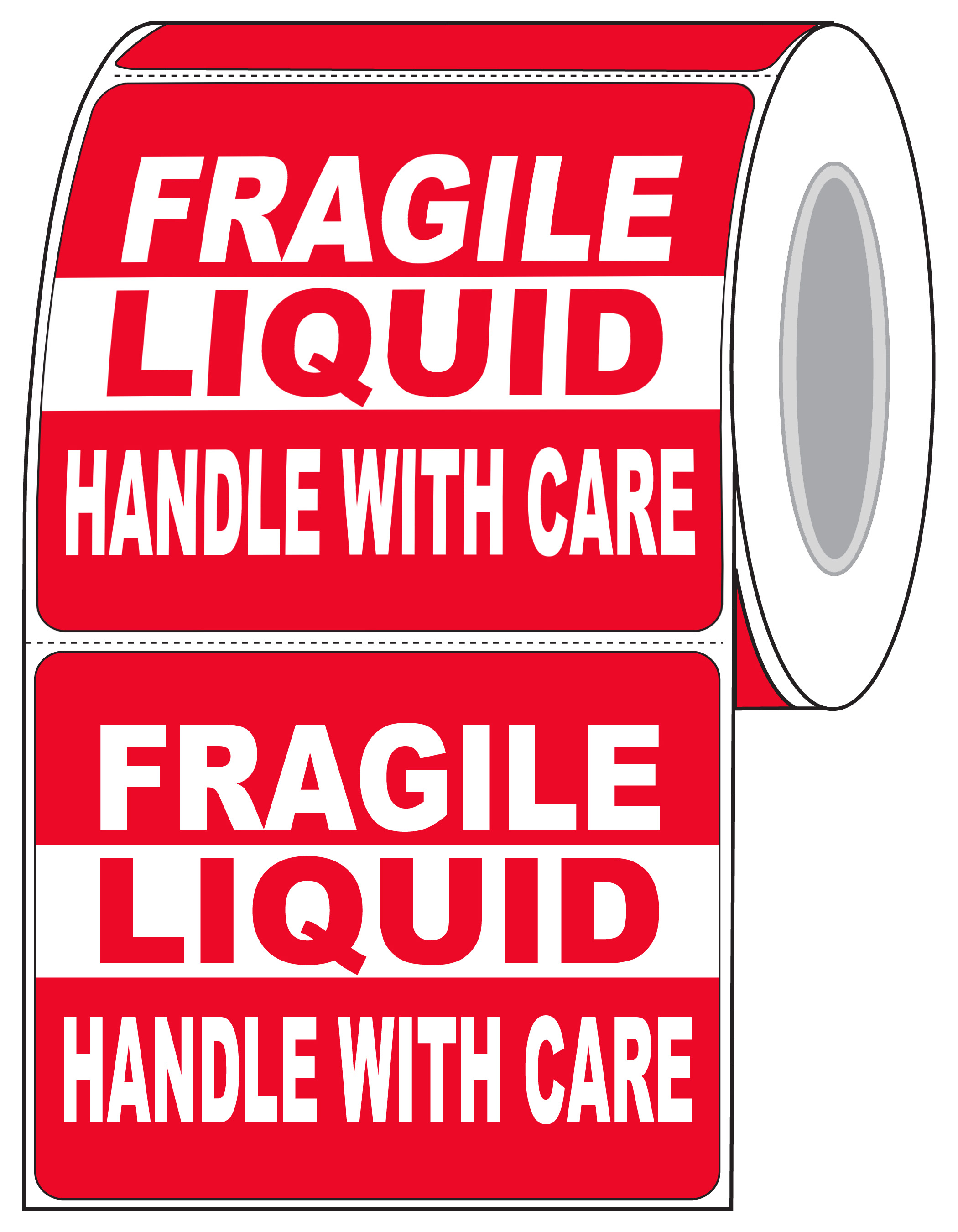 "Data Label 5""x 4"" Premium Warehouse RED Warning Labels"